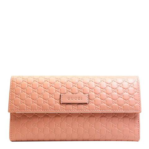 Gucci Pink Guccissima Leather Wallet