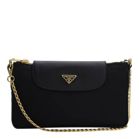 Prada Black Prada Leather Crossbody Bag