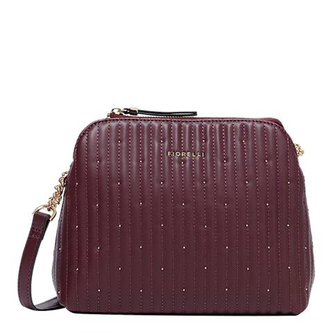 Fiorelli Oxblood Quilted Rosa Crossbody