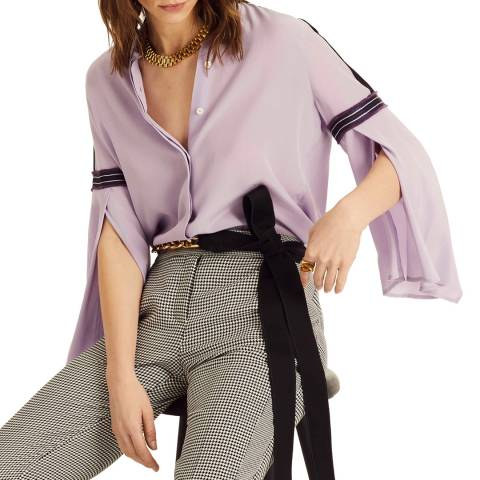 Amanda Wakeley Lilac Relaxed Silk Shirt