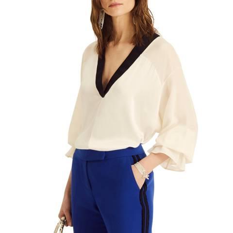 Amanda Wakeley L/S Blouse Viscose Satin White Multi Size 06
