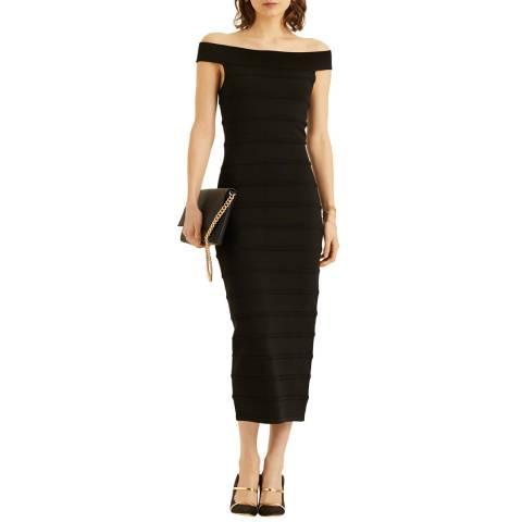 Amanda Wakeley Black Midi Knit Dress