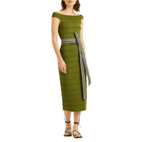 Amanda Wakeley Green Midi Knit Dress
