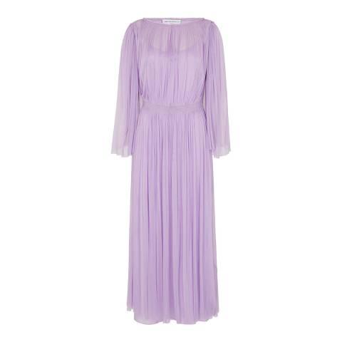 Amanda Wakeley Purple Tulle Silk Midi Dress