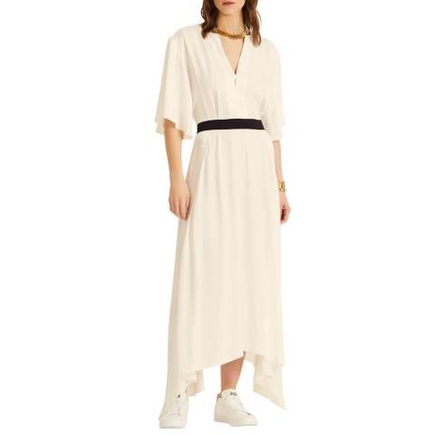 Amanda Wakeley Ecru Satin Short Dress