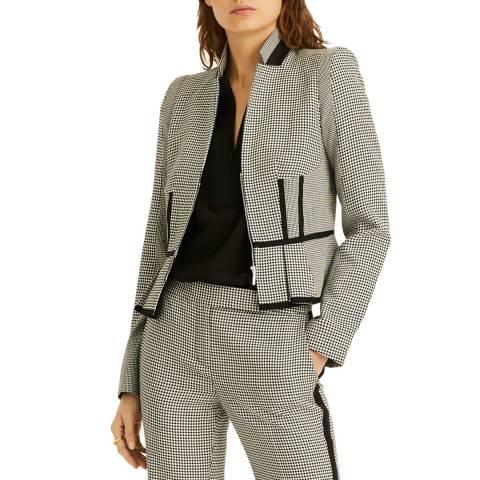 Amanda Wakeley Black/Multi Novelty Dogtooth Jacket