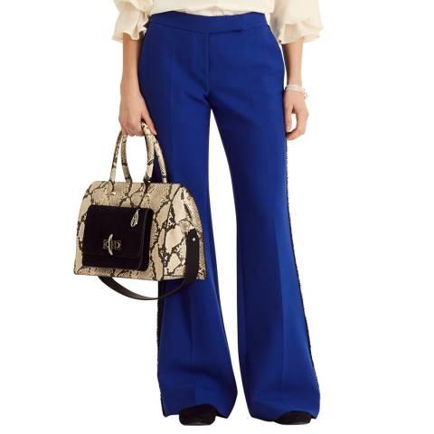 Amanda Wakeley Bright Blue Sculpted Tailoring Bootcut Pant