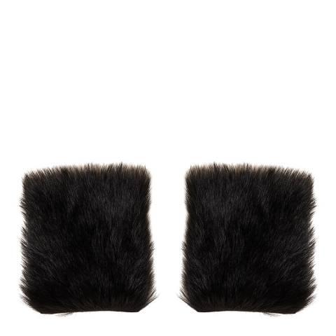 N°· Eleven Black Shearling Cuffs