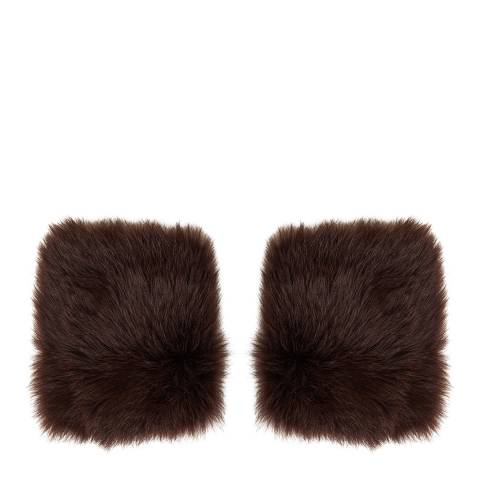 N°· Eleven Brown Shearling Cuffs
