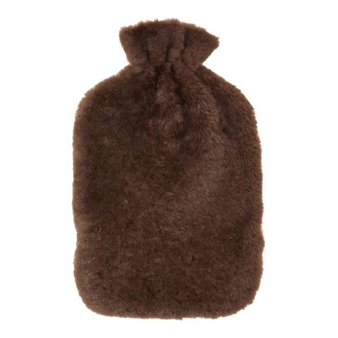 N°· Eleven Light Brown Shearling Hot Water Bottle Cover
