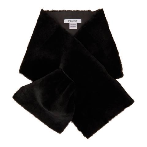 N°· Eleven Black Shearling Scarf