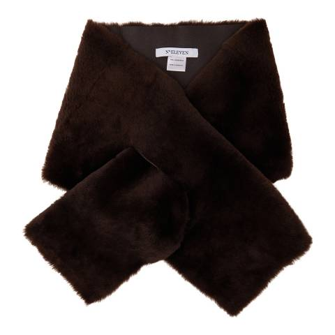 N°· Eleven Brown Shearling Scarf