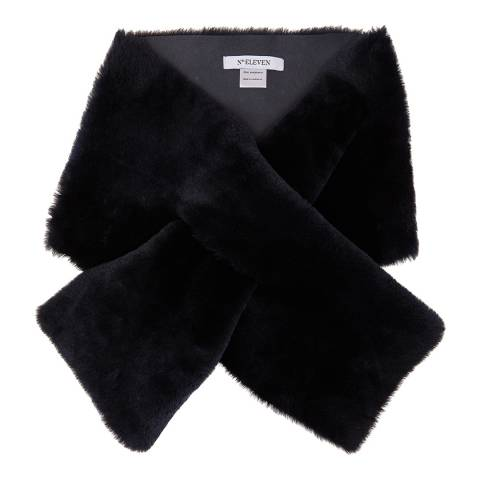 N°· Eleven Navy Shearling Scarf