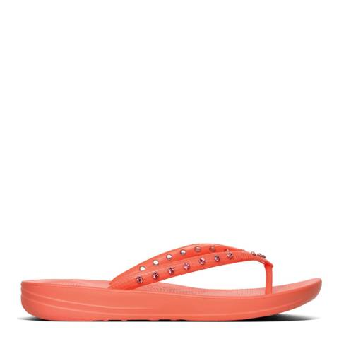 FitFlop Coral Crystal Iqushion Ergonomic Flip Flops