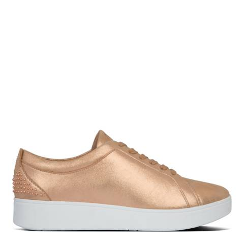 FitFlop Rose Gold Rally Microstud Sneakers