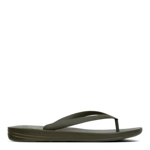 FitFlop Camouflage Green Iqushion Ergonomic Flip Flops