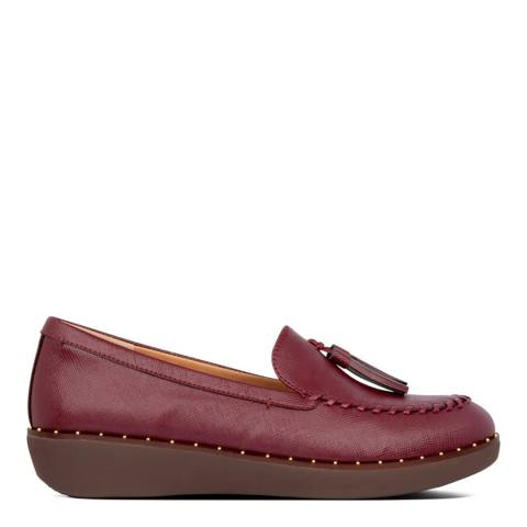 FitFlop Burgundy Petrina Patent Loafers