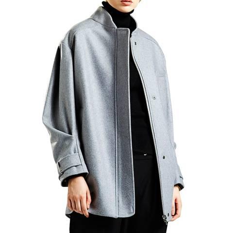 Avie Grey Wool Blend Weekend Coat