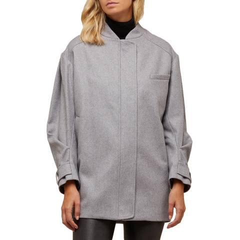 Avie Grey Wool Blend Weekend Coat