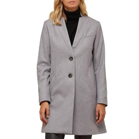 Avie Grey Wool Blend Tailored Coat