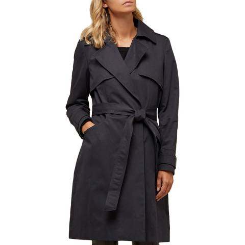 Avie Midnight Blue Cotton Trench