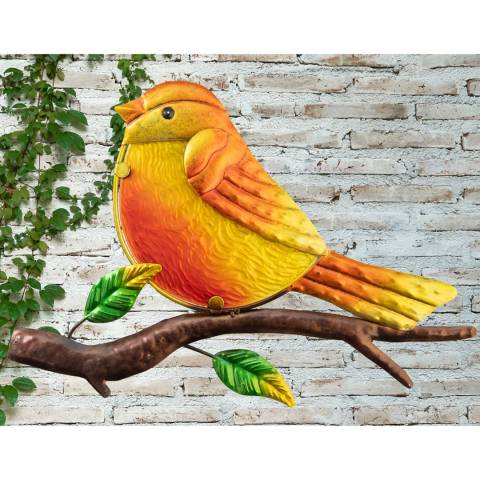 Creekwood Robin Glass Wall Art
