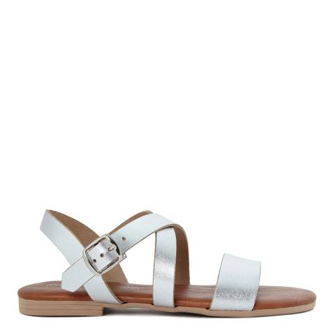 Miss Butterfly Silver Leather Gladiator Style Sandals