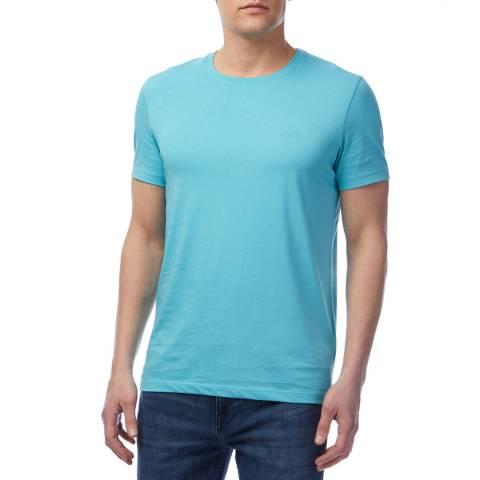 BOSS Sky Blue Tessler Cotton T-Shirt