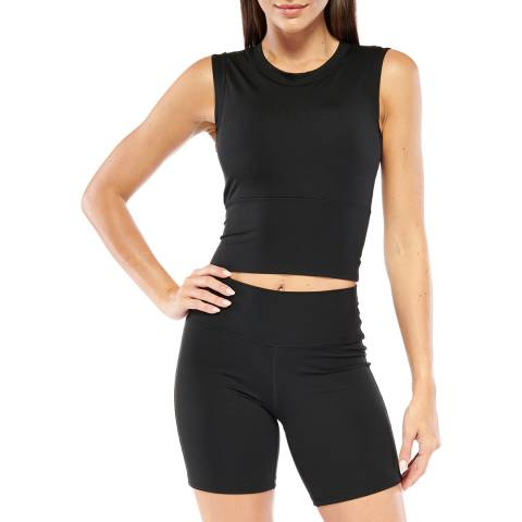 Electric Yoga Black Cropped Top with Built in Padding