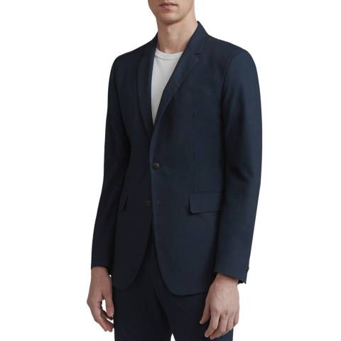 Rag & Bone Navy Slim Fit Razor Cotton Jacket