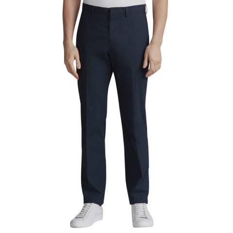 Rag & Bone Navy Slim Fit Razor Cotton Trousers