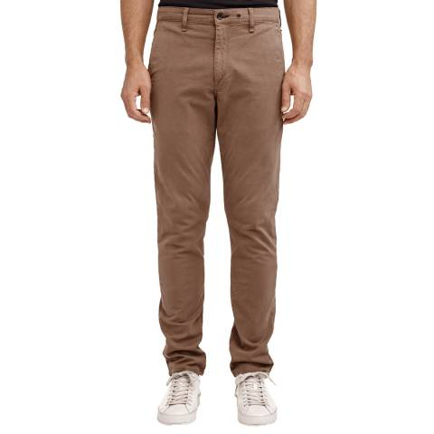 Rag & Bone Brown Slim Fit Cotton Chino