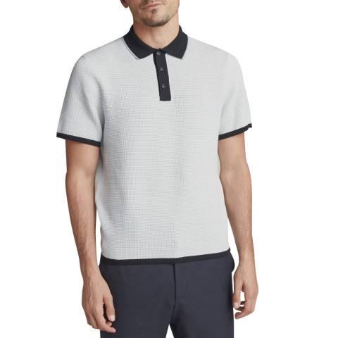Rag & Bone Light Blue Finn Cotton Polo Shirt