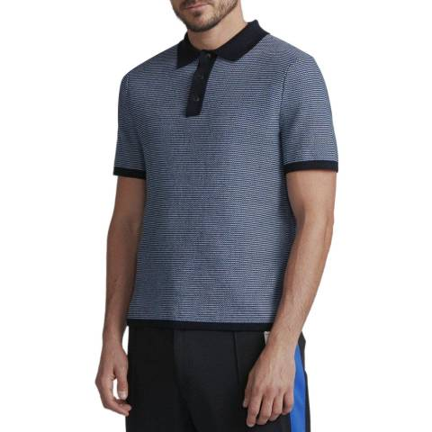 Rag & Bone Dark Blue Finn Cotton Polo Shirt