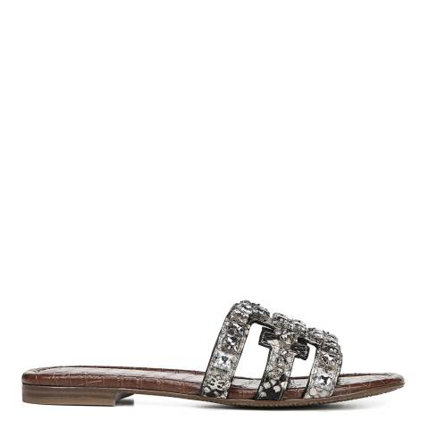Sam Edelman Python Shiny Burmese Bay Slide Sandals