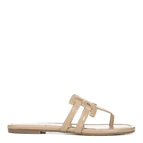 Sam Edelman Almond Beige Patent Cara Slide Sandals