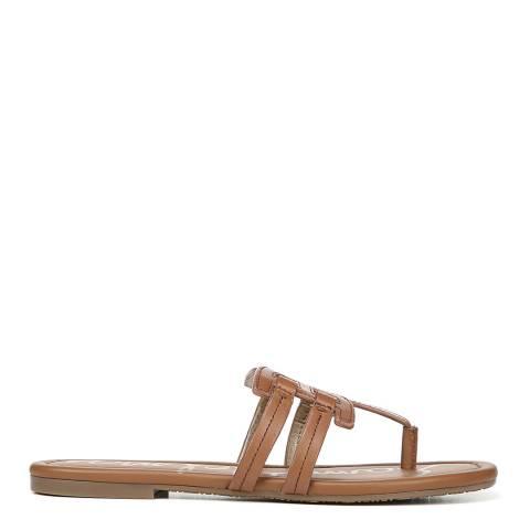 Sam Edelman Brown Saddle Vaquero Cara Bay Slide Sandals