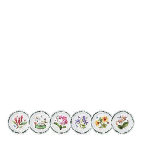 Portmeirion Set of 6 Exotic Botanic Garden Plates, 18.5cm
