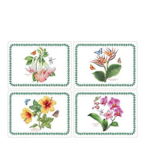 Pimpernel Set of 4 Exotic Botanic Garden Placemats