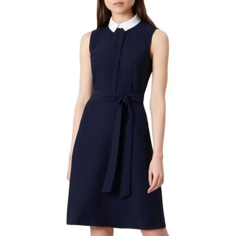 Hobbs London Navy Hayley Dress