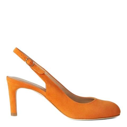 Hobbs London Orange Sophie Slingback Heels