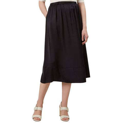 Hobbs London Navy Selma Skirt