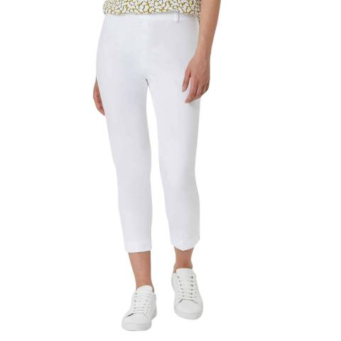 Hobbs London White Mallory Capri Trousers