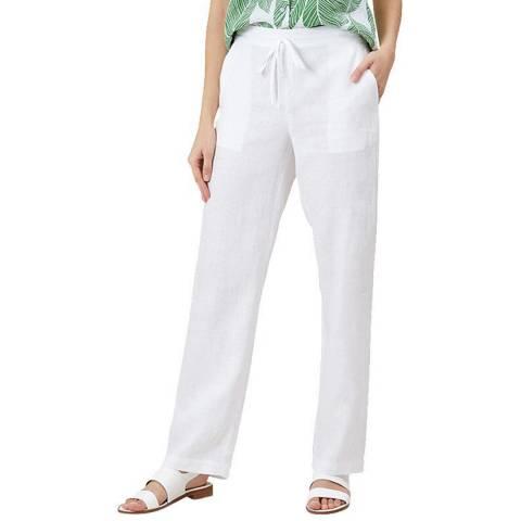 Hobbs London White Porthmeor Linen Trousers