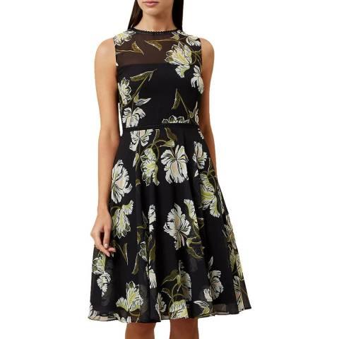 Hobbs London Black Floral Eve Dress