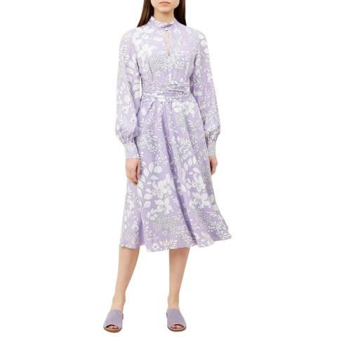Hobbs London Lilac Silvia Dress