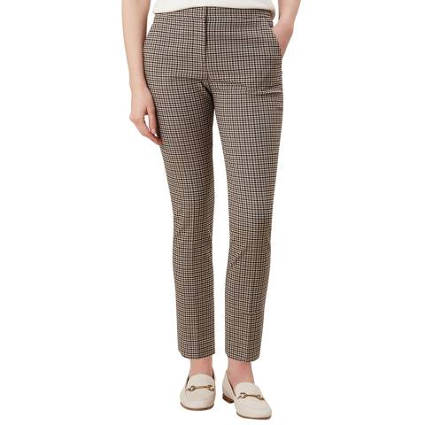 Hobbs London Beige Check Annie Trousers