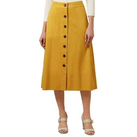 Hobbs London Yellow Celina Skirt