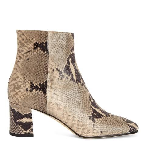 Hobbs London Snake Print Imogen Boots