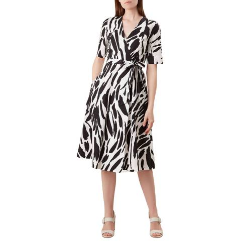 Hobbs London Black Print Amara Dress